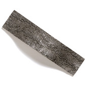 Bark, Leaves & Rocks Collection 5-1/8'' W Bark Pull in Antique Pewter, 5-1/8'' W x 1-3/8'' D