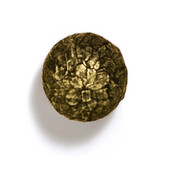 Bark, Leaves & Rocks Collection 1-1/4'' Diameter Round Leaves Ball Knob in Antique Brass, 1-1/4'' Diameter x 1-1/2'' D