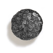 Bark, Leaves & Rocks Collection 1-3/8'' Diameter Round Small Leaves Knob in Antique Pewter, 1-3/8'' Diameter x 1'' D