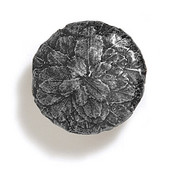 Bark, Leaves & Rocks Collection 1-5/8'' Diameter Round Large Leaves Knob in Antique Pewter, 1-5/8'' Diameter x 1'' D