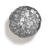 Bark, Leaves & Rocks Collection 1-5/8'' Diameter Round Large Leaves Knob in Polished Pewter, 1-5/8'' Diameter x 1'' D