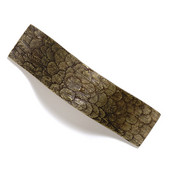 Bark, Leaves & Rocks Collection 5-1/8'' W Leaves Pull in Antique Brass, 5-1/8'' W x 1-3/8'' D