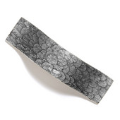 Bark, Leaves & Rocks Collection 5-1/8'' W Leaves Pull in Polished Pewter, 5-1/8'' W x 1-3/8'' D