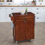 Mix & Match 2 Door w/ Drawer Cuisine Cart Cabinet, Cherry Finish with Cherry Top, 32-1/2'' W x 18-3/4'' D x 35-1/2'' H