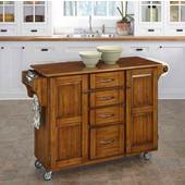 Mix & Match Create-a-Cart Warm Oak Finish with Oak Top by , 48'' W x 17-3/4'' D x 35-1/2''H