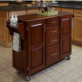 Mix & Match Create-a-Cart Cherry Finish with Oak Top by , 48'' W x 17-3/4'' D x 35-1/2''H