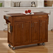 Mix & Match Create-a-Cart Warm Oak Finish with Oak Top by , 48-3/4'' W x 17-3/4'' D x 34-3/4''H