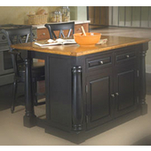 Kitchen Islands - Monarch Kitchen Island with Granite Insert Top by ...