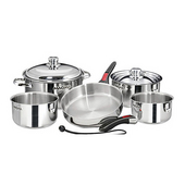 10-Piece Stainless Steel Gourmet Cookware