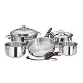 10-Piece Stainless Steel Gourmet Cookware