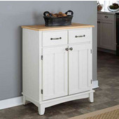 Mix & Match Buffet Server with White Base and Natural Top, 29-1/4'' W x 15-7/8'' D x 35-1/2''H
