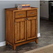 Mix & Match Buffet Server with Dark Cottage Oak Stained Base and Cottage Oak Top, 29-1/4'' W x 15-7/8'' D x 35-1/2''H