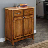 Mix & Match Buffet Server with Dark Cottage Oak Stained Base and Natural Top, 29-1/4'' W x 15-7/8'' D x 35-1/2''H