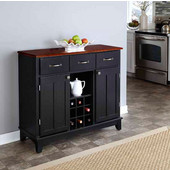 Mix & Match Large Buffet Server Black Base with Cherry Top, 41-3/4'' W x 17'' D x 36-1/4''H