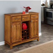 Mix & Match Large Buffet Server with Dark Cottage Oak Stained Base and Cottage Oak Top, 41-3/4'' W x 17'' D x 36-1/4''H