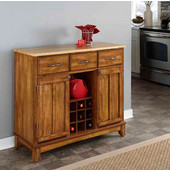 Mix & Match Large Buffet Server Dark Cottage Oak Stained Base with Natural Top, 41-3/4'' W x 17'' D x 36-1/4''H