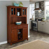 Mix and Match large Cherry buffet server with two-door hutch and Cherry wood top