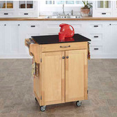 Mix & Match Cuisine Cart, Natural Base, Black Granite Top, 32-1/2'' W x 18-3/4'' D x 36'' H