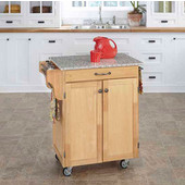 Mix & Match Cuisine Cart, Natural Base, Grey Granite Top, 32-1/2'' W x 18-3/4'' D x 36'' H
