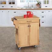 Mix & Match Cuisine Cart, Natural Base, Wood Top, 32-1/2'' W x 18-3/4'' D x 36'' H