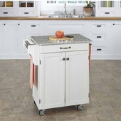 Mix & Match Cuisine Cart, White Base, Granite Top, 32-1/2'' W x 18-3/4'' D x 36'' H