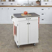 Mix & Match Cuisine Cart, White Base, Stainless Steel Top, 32-1/2'' W x 18-3/4'' D x 36'' H