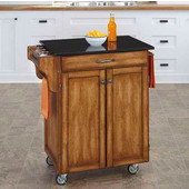 Mix & Match Cuisine Cart, Cottage Oak Base, Black Granite Top, 32-1/2'' W x 18-3/4'' D x 36'' H