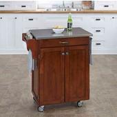 Mix & Match Cuisine Cart, Cherry Finish, Stainless Steel Top, 32-1/2'' W x 18-3/4'' D x 36'' H