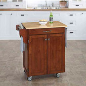 Mix & Match Cuisine Cart, Cherry Finish, Wood Top, 32-1/2'' W x 18-3/4'' D x 36'' H