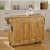 "Mix and Match Create-a-Cart Natural Finish Wood Top, 48"" W x 17 -1/2"" D x 35 -1/2"" H"