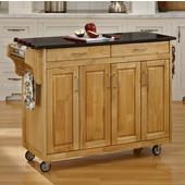 Mix and Match Create-a-Cart Natural Finish Black Granite Top, 48-3/4'' W x 17-3/4'' D x 35 1/2'' H