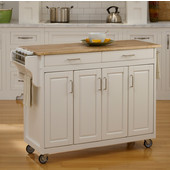 Mix and Match Create-a-Cart White Finish Wood Top, 48-3/4'' W x 17-3/4'' D x 34''H