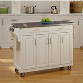 Mix and Match Create-a-Cart White Finish SS Top, 48-3/4'' W x 17-3/4'' D x 34''H