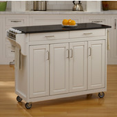 Mix and Match Create-a-Cart White Finish Black Granite Top, 48-3/4'' W x 17-3/4'' D x 34''H