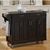 Mix and Match Create-a-Cart Black Finish Black Granite Top, 48-3/4'' W x 17-3/4'' D x 34''H
