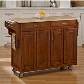 Mix and Match Create-a-Cart Dark Cottage Oak Finish Wood Top, 48-3/4'' W x 17-3/4'' D x 34''H