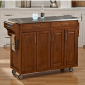 Mix and Match Create-a-Cart Dark Cottage Oak Finish SS Top, 48-3/4'' W x 17-3/4'' D x 34''H