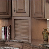 16-3/4'' W Omega Wood Tambour Corner Appliance Garage, Available in Numerous Wood Species