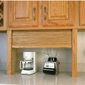 30'' W Omega Series Fronts/Components Straight Unit Appliance Garage, Available in Numerous Wood Species