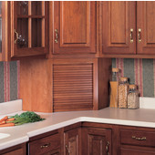 Omega Tambour Corner Kitchen Appliance Garage with Solid Wood Door, Available in Numerous Wood Species & Door Types