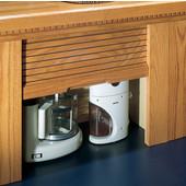 Straight Tambour Garage for Kitchen Appliances with Solid Wood Door, Available in Numerous Wood Species & Door Types