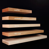 24'' Wall Mounted Floating Shelf Cherry, 24'' W x 10'' D x 2-1/2'' H, Available in Other Sizes and Finishes