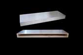 24''W Stainless Steel Floating Shelves, 24''W x 10''D x 2-1/2''H