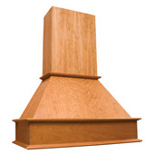 Island Wooden Range Hood with Straight Valence, Available in Multiple Finishes & Sizes