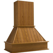 Nantucket Wall Mounted Range Hood with Straight Valence, Available in Multiple Wood Species & Sizes
