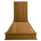 Straight Nantucket Wall Mount Range Hood with Liner for NA-SUT90870M, Available in Multiple Wood Species & Sizes