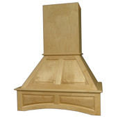 Signature Deluxe Arched Wall Mount Range Hood with Liner for Broan Ventilation, Available in Multiple Wood Species & Sizes