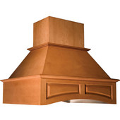 42'' Island Wooden Range Hood, Arched Valence, Unfinished, Maple, 250-1500 CFM