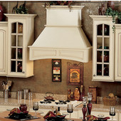 Signature Series Arched Wall Chimney Range Hood, 250-1500 CFM, 36'' - 48'' W, Alder, Maple, Hickory, Red Oak and Cherry Wood Available