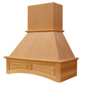 Arched Signature Wall Mount Range Hood with Liner for NA-SUT90870M, Available in Multiple Wood Species & Sizes